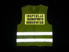 Kamizelka ostrzegawcza Inspekcji Transportu Drogowego (Tył)