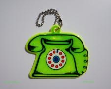 zawieszka zielona-TELEFON