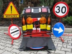 Zestaw zapory na drodze